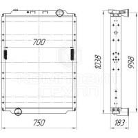 Радиатор охлаждения МАЗ-650136, МАЗ-631236, МАЗ-646076, МАЗ-656076