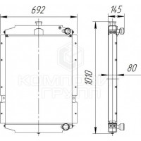 Радиатор охлаждения Урал-55571-70