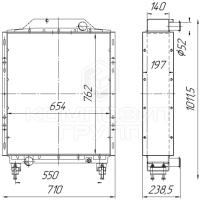 Радиатор охлаждения МТЗ-2822, МТЗ-3022