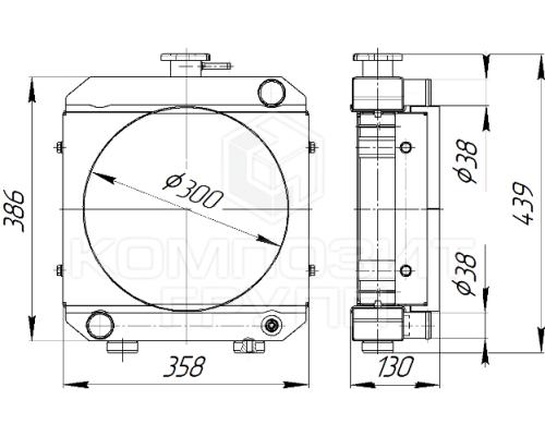 Радиатор охлаждения Уралец-220, Уралец-224