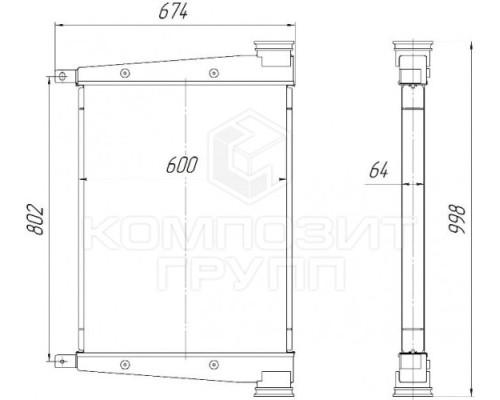 Интеркулер ОНВ ЛиАЗ-5292