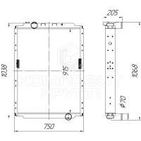 Радиатор охлаждения МАЗ-631724, МАЗ-642524