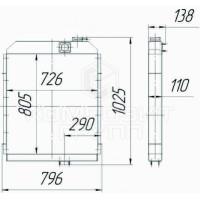 Радиатор охлаждения Т-170, Т-10, Т-11, Т-12, Т-13, Б-10