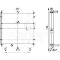 Радиатор охлаждения Tvex-140, Tvex-180, ЕК-14, ЕК-18