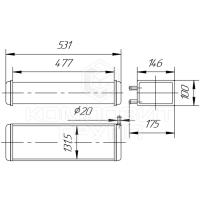 Радиатор отопителя УАЗ-3741, УАЗ-31512, УАЗ-31519, УАЗ-3303, УАЗ-3962, УАЗ-2206