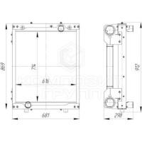 Блок радиаторов ЛиАЗ-429260