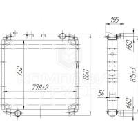 Радиатор охлаждения МАЗ-5340В5, МАЗ-5440В5, МАЗ-5550В5, МАЗ-6312В5, МАЗ-6501В5