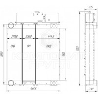 Блок радиаторов Четра Т-1502, Т-1502Я, Т-2002Я, ТГ-302Я, ТГ-222Я