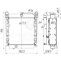 Блок радиаторов Амкодор  А-332, А-342, А-352