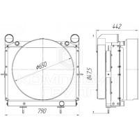 Блок радиаторов Урал-4320-60