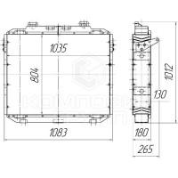 Радиатор охлаждения ДЭТ-320, ДЭТ-400
