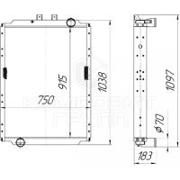 Радиатор охлаждения МАЗ-530927, МАЗ-650228, МАЗ-643228