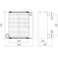 Радиатор охлаждения КВК-8060