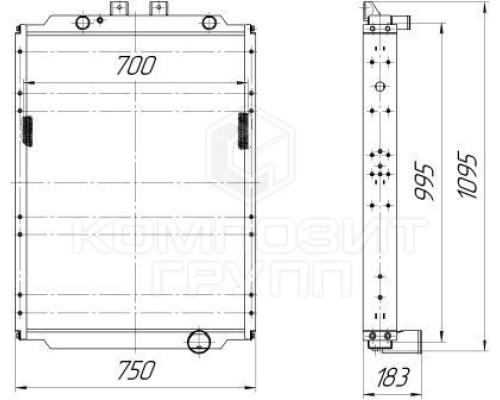 Радиатор охлаждения МАЗ-641808, МАЗ-530905