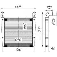 Интеркулер ОНВ А-332, А-342, А-352
