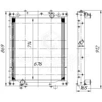 Радиатор охлаждения ЛиАЗ-429260