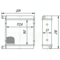 Радиатор отопителя МТЗ-80, МТЗ-82