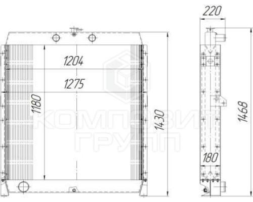 Радиатор охлаждения АД-315, АД-400, ЯСУ-500