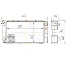 Радиатор охлаждения ГАЗ-3102 Волга