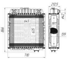 """Радиатор охлаждения Т-150, СК-6, """"Нива"""", КС-6Б"""