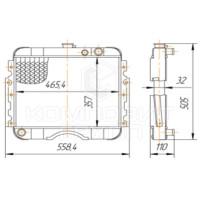 Радиатор охлаждения ГАЗ-2410 ГАЗ-31029 Волга