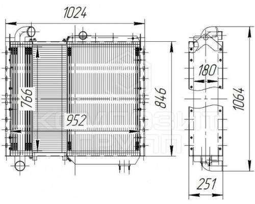 Блок радиаторов КЗС-812, КЗС-812С, УЭС-2-250А