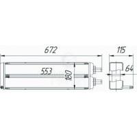 Радиатор отопителя МАЗ-103, МАЗ-105, МАЗ-107, МАЗ-203, МАЗ-205, МАЗ-251