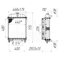 Блок радиаторов Амкодор А-211