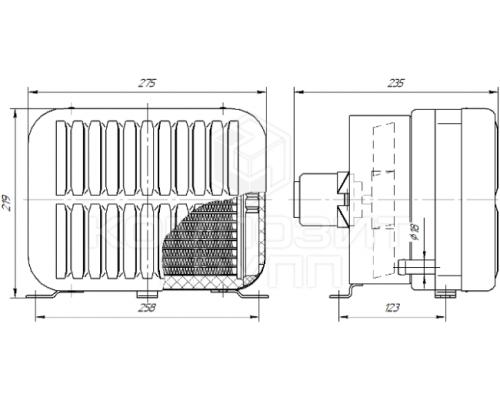 Универсальный отопитель салона автобуса 12 В