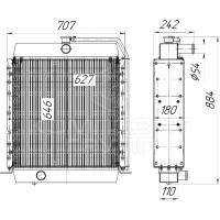 Радиатор охлаждения Амкодор  А-342