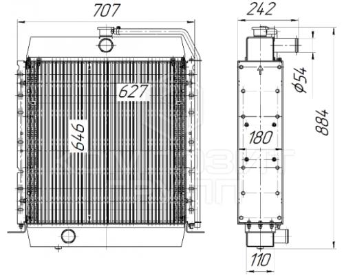 Радиатор охлаждения Амкодор  А342