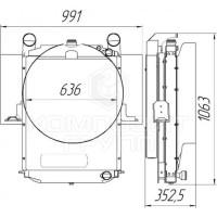 Блок радиаторов Урал-55571-70