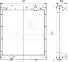 Радиатор охлаждения ЛиАЗ-4292