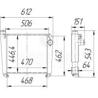 Интеркулер ОНВ МТЗ-900, МТЗ-1021, МТЗ-1025