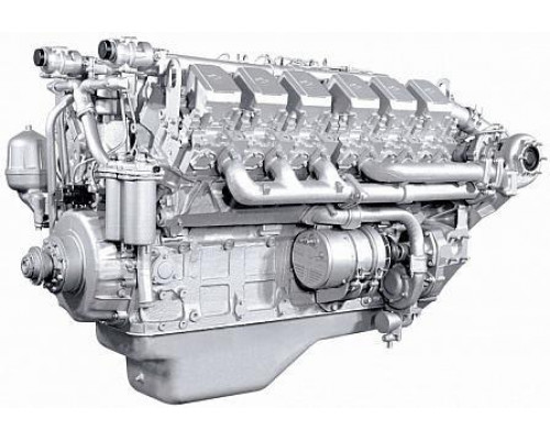Двигатель ЯМЗ-240ПМ2 без КПП и сц., с инд. ГБЦ (420 л.с.) (ЯМЗ)