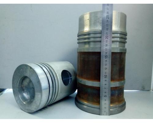 Гильза с поршнем ЯМЗ-236,238 (кор.гильза,поршень,упл/к,п/к) (блок 236-Е,238-Д) АВТОДИЗЕЛЬ