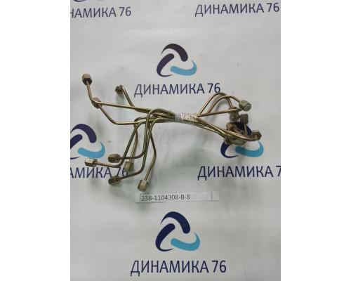 Комплект трубок ЯМЗ-238 топливных высокого давления (Старого образца, трубки гнутые, 8 шт)