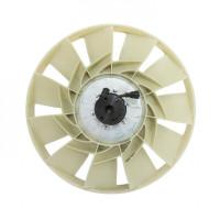 Вентилятор КАМАЗ-ЕВРО 650мм с обечайкой в сборе (дв.CUMMINS 6ISBe4,ISB6.7e4,5) для 21-500 ТЕХНОТРОН