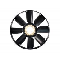 Вентилятор КАМАЗ-ЕВРО 654мм без муфты с обечайкой (дв.740.30,740.31,CUMMINS)