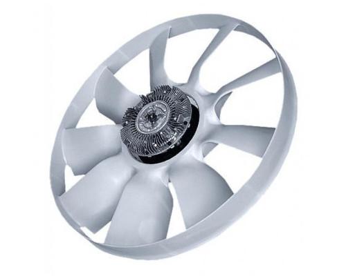 Вентилятор КАМАЗ-ЕВРО 654мм с вязкостной муфтой и обечайкой в сборе (дв.740.30,31,CUMMINS) BORG WARN