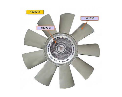 Вентилятор КАМАЗ-ЕВРО 660мм с вязкостной муфтой в сборе (дв.740.30,31 до 2007г.)