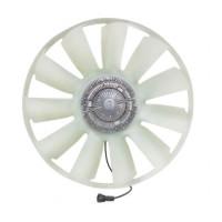 Вентилятор КАМАЗ-ЕВРО 750мм с вязкостной муфтой и обечайкой в сборе (дв.740.82-440)