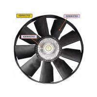 Вентилятор КАМАЗ-ЕВРО 758мм с вязкостной муфтой и обечайкой в сборе (дв.740.37,60,63,70-420)