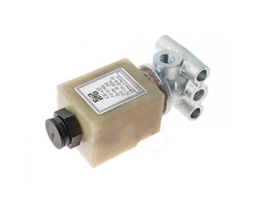 Клапан электромагнитный КАМАЗ,МАЗ,УРАЛ 24V КЭБ 420 в сборе (штоковый разъем)