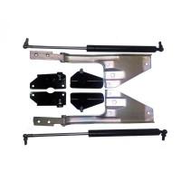 Кронштейн КАМАЗ-ЕВРО крепления панели облицовки радиатора рестайлинг (4 наименования) комплект