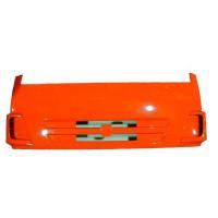 Панель КАМАЗ облицовки радиатора интегральная (рестайлинг) (оранжевый) с кронштейнами ТЕХНОТРОН