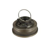 Ступица УРАЛ с барабаном и кольцом импульсным в сборе (для мостов с АБС, 2 подшипника) (АО АЗ УРАЛ)
