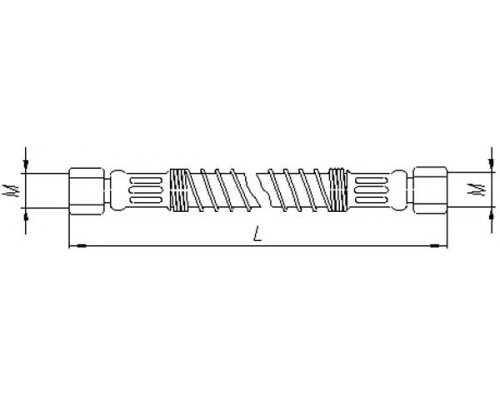 Шланг МАЗ механизма подъема платформы 845мм БААЗ