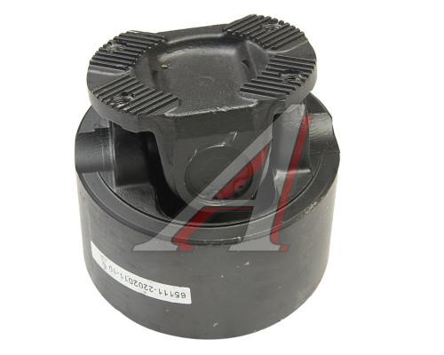 Вал карданный КАМАЗ промежуточный (4 отверстия, торцевые шлицы) L=232мм (ОАО КАМАЗ)