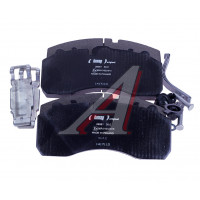 Колодки тормозные MERCEDES DAF SCANIA IVECO SAF МАЗ-203 передние/задние (4шт.) LUMAG
